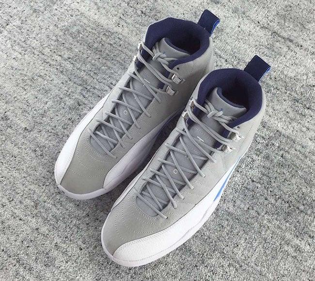big sale 3094f 76f6a Wolf Grey Blue Air Jordan 12 2016