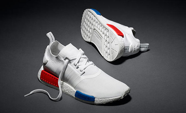 adidas NMD Runner PK White Red Blue