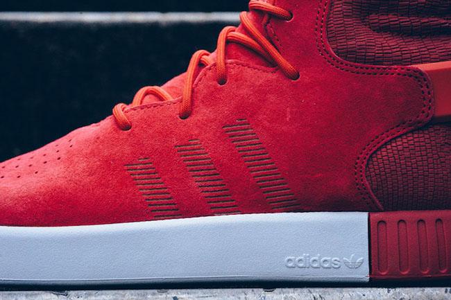 Adidas tubulare invasore bianco, rosso sneakerfiles