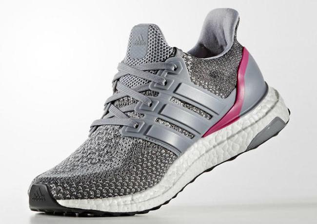 adidas Ultra Boost Grey Shock Pink
