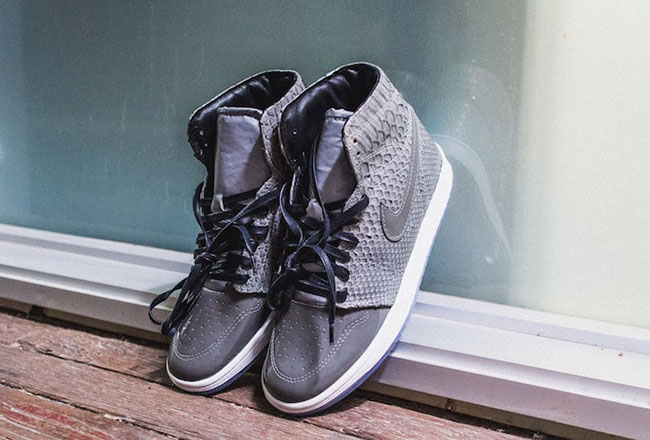 Air Jordan 1 Grey Python Custom