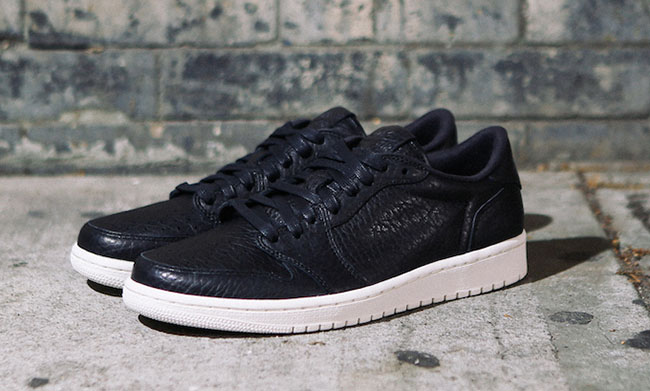 Air Jordan 1 Low No Swoosh Black May 2016