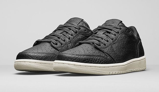 Air Jordan 1 Low No Swoosh Black Sail