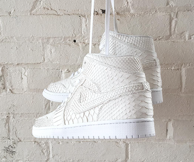 Air Jordan 1 White Python Custom