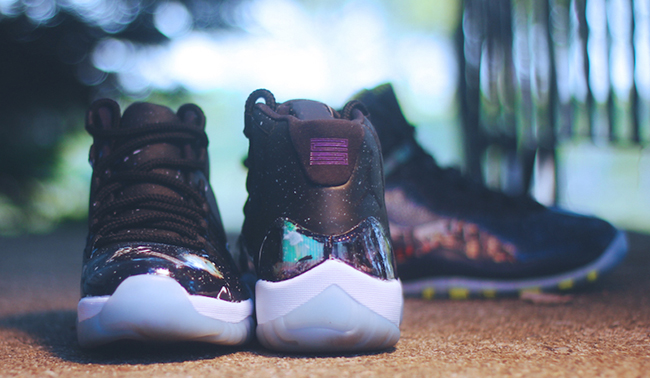 Air Jordan 10 11 Cosmos Custom Pack