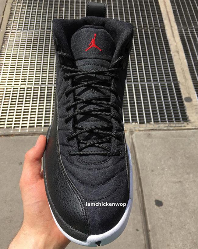 Air Jordan 12 Black Nylon Waterproof