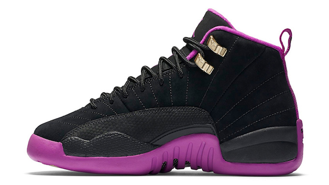 Air Jordan 12 GS Black Hyper Violet Release Date  4901cf636