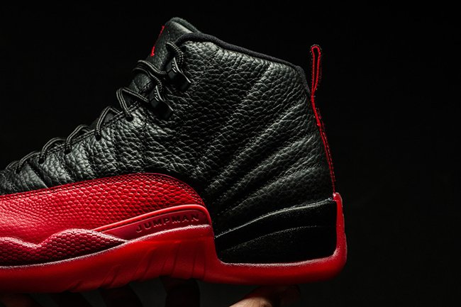 Air Jordan 12 Flu Game Black Varsity Red 2016