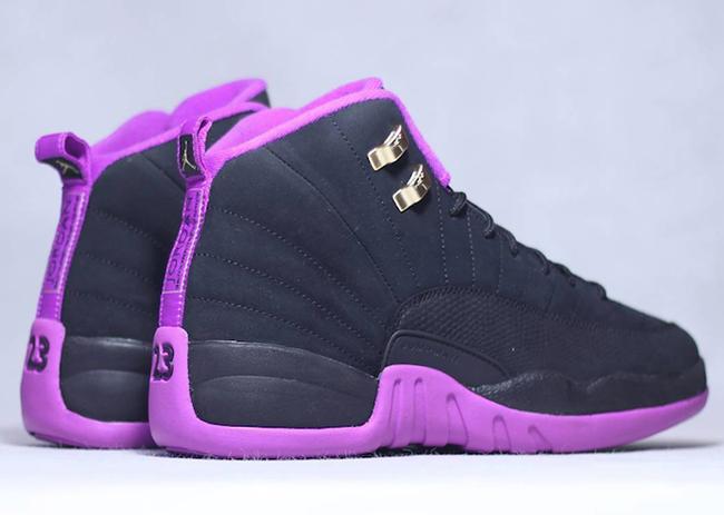 Air Jordan 12 Gs Black Hyper Violet Release Date