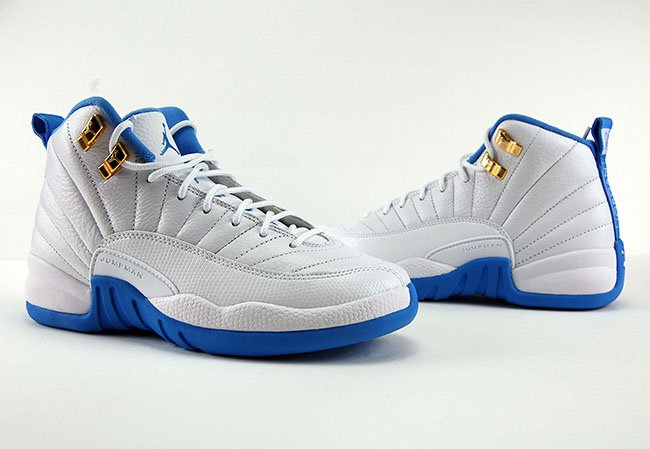 Air Jordan 12 GS White University Blue Metallic Gold Review On Feet