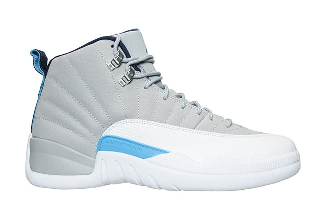 5b86672e811c Air Jordan 12 Grey University Blue Release Date