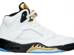 Air Jordan 5 Retro Olympic Gold Medal Tongue