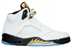 Air Jordan 5 Retro Olympic Gold Medal Tongue