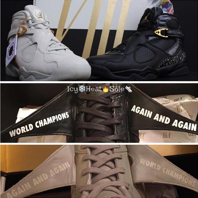 Air Jordan 8 Champ Pack World Champions Again and Again