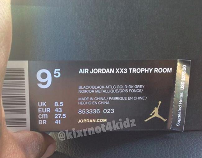 Air Jordan XX3 Trophy Room