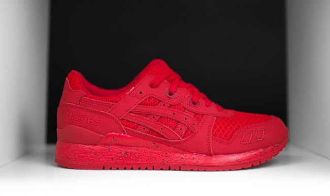 all red asics gel