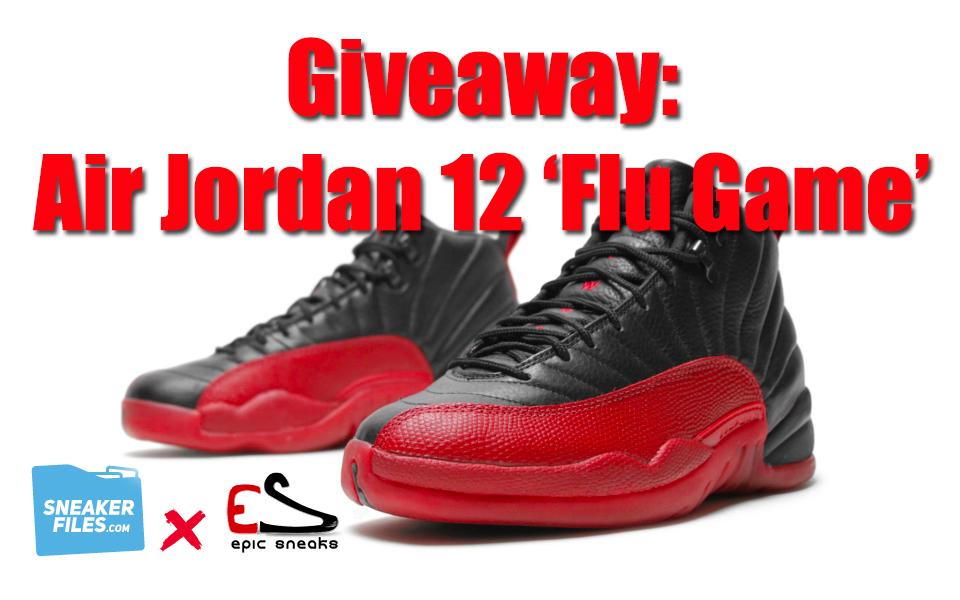 Giveaway Air Jordan 12 Flu Game