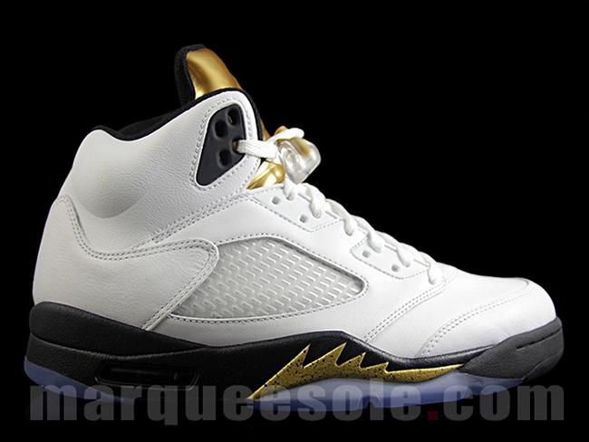 Gold Medal Tongue Air Jordan 5 Olympic