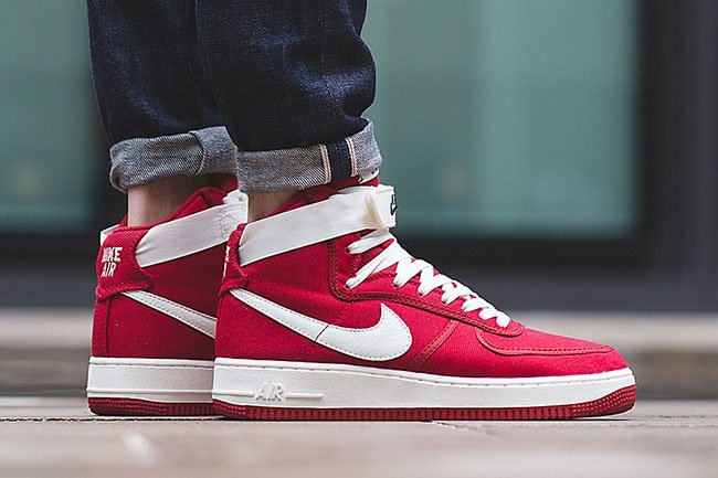 Nike Air Force 1 High Canvas Gym Red | SneakerFiles