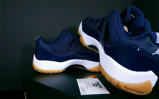 Navy Gum Jordan 11 Low Release