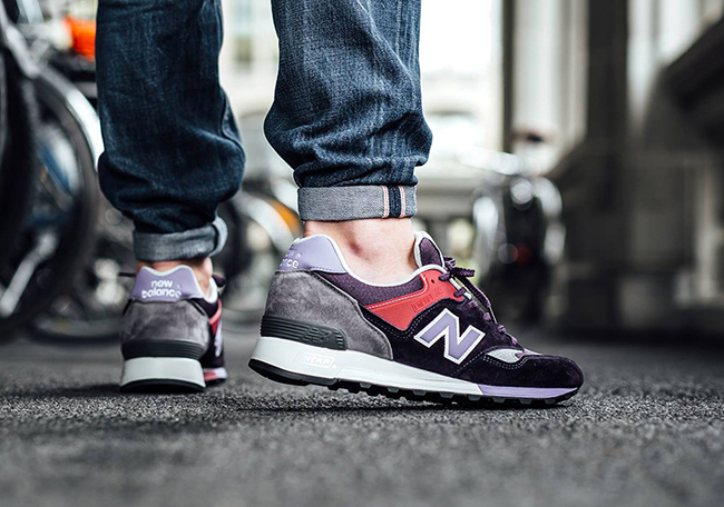 New Balance 577 Made in England Purple Red Grey