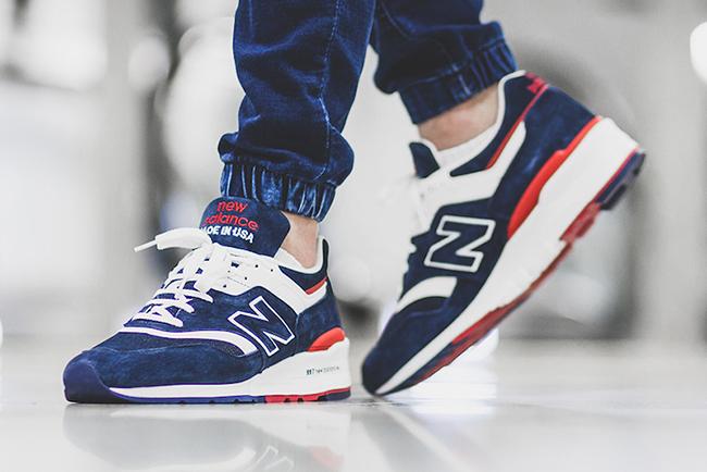 New Balance 997 Navy Red
