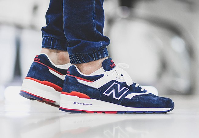 New Balance 997 Navy Red  eeafcb464b