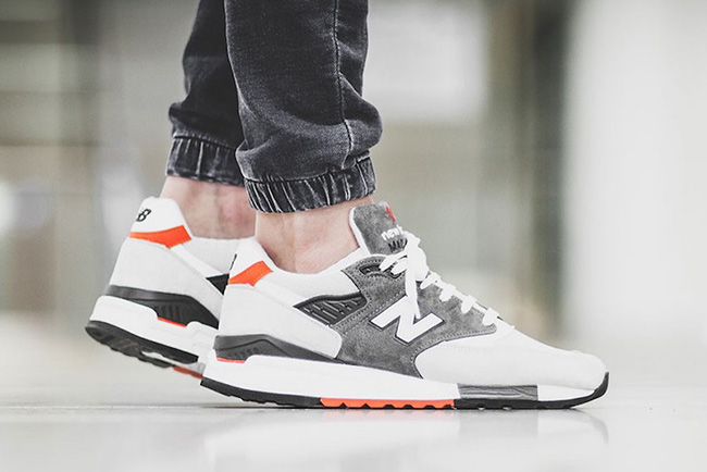 New Balance 998 Grey Orange White