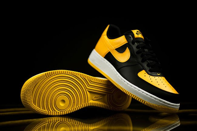 nike air force 1 low black and yellow