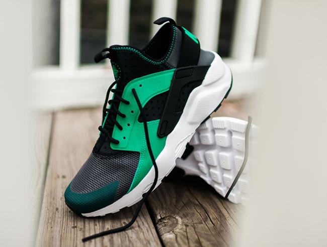 Nike Air Huarache Run Ultra Menta Green Grey White Black