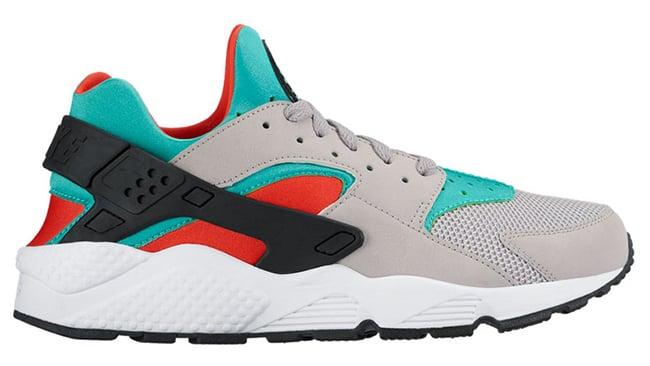 Nike Air Huarache Silver Jade Crimson