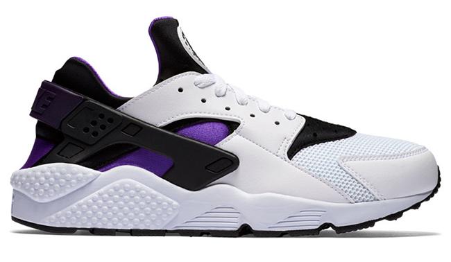 Nike Air Huarache White Grape Black