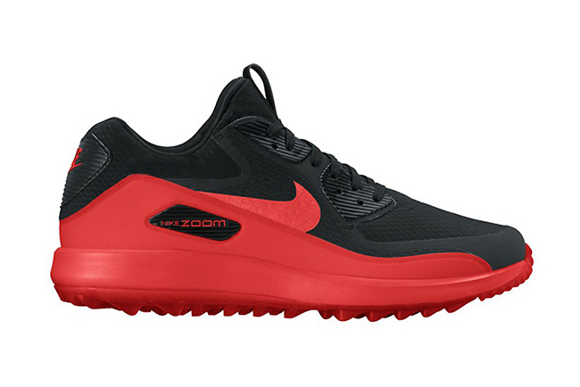 Nike Air Max 90 Golf Shoe Black Red