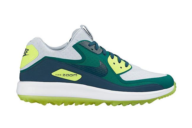 Nike Air Max 90 Golf Shoe Blue Green Volt