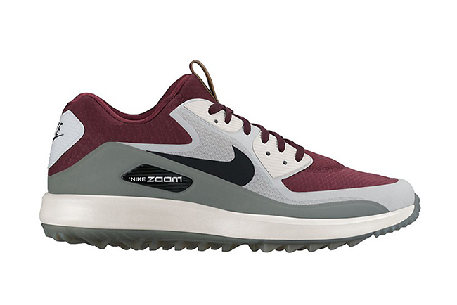 Nike Air Max 90 Golf Shoe Burgundy Grey