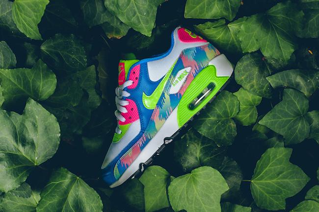 Nike Air Max 90 Print Mesh Electric Green