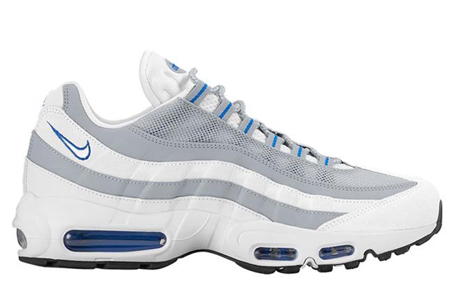 Nike Air Max 95 White Pure Platinum Hyper Cobalt