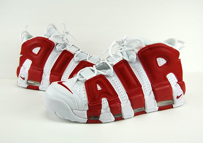 Nike Air More Uptempo White Gym Red Review On Feet