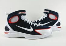 Nike Air Zoom Huarache 2K4 UCONN Midnight Navy University Red Review On Feet