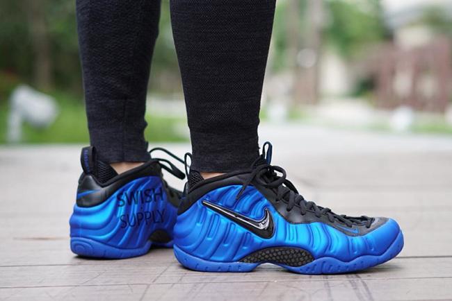 Nike Foamposite Pro Hyper Cobalt On Feet