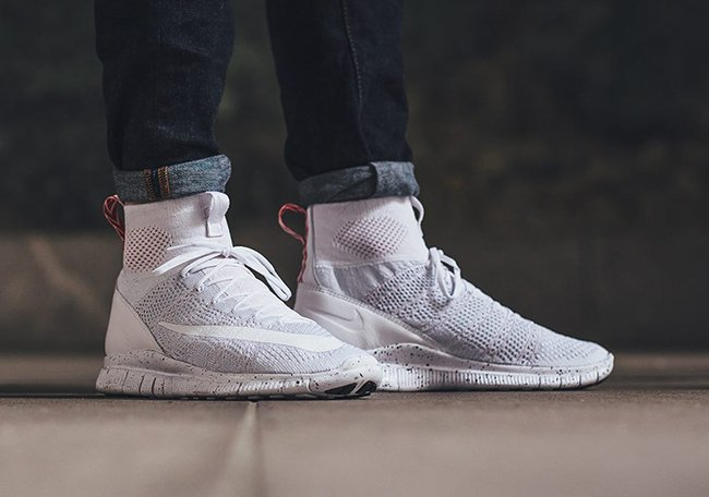 nike free flyknit mercurial superfly on foot