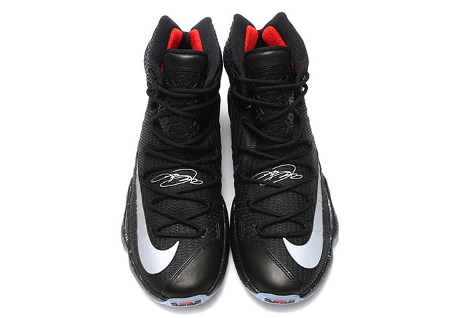 Nike LeBron 13 Elite Black Reflect Silver Red
