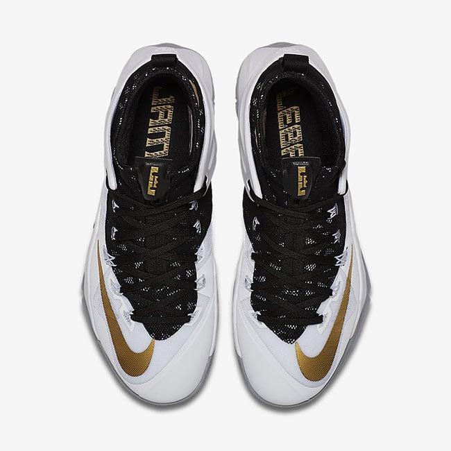Nike LeBron Ambassador 8 White Black Gold
