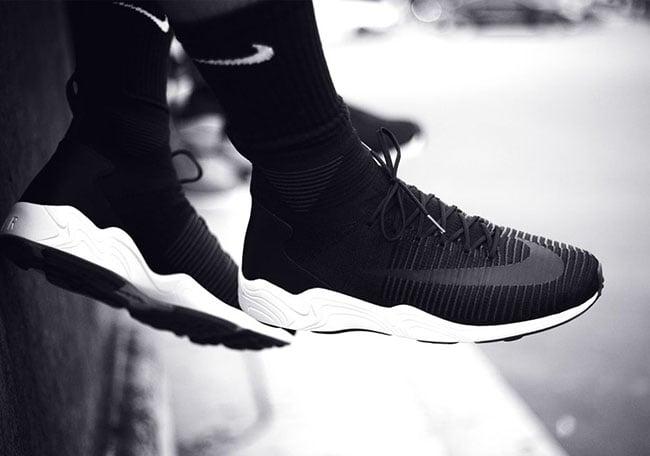 Nike Zoom Mercurial Flyknit Spiridon Black White 46d7c830c5cf