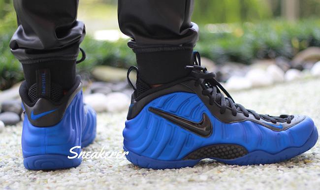 On Feet Nike Foamposite Pro Hyper Cobalt