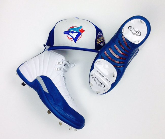 Russell Martin Air Jordan 12 French Blue Cleats
