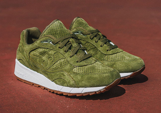 Saucony Shadow 6000 Olive Suede