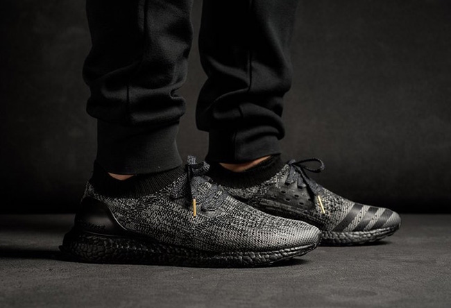 Adidas Ultra Boost Uncaged Black On Feet