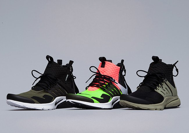 new style 1224b 15733 outlet ACRONYM x Nike Air Presto Mid Collection Release Date