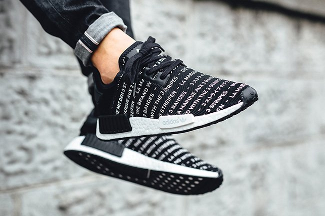 adidas NMD R1 Brand with Three Stripes Black